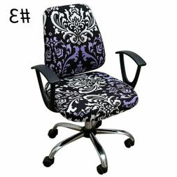 Split Office Chair Covers Rotating Seat Slipcover Computer C
