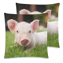 BMALL Square Decorative Throw Pillow Case Pack of 2, Cute Ne