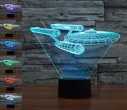 Lmeison 3D Lights Colorful Touch LED Visual Lights 7 LED Col