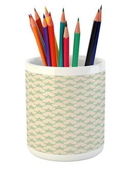 Ambesonne Stars Pencil Pen Holder, Bullseye Style Arrangemen