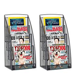 Halter Steel Mesh Magazine Rack/Literature Rack - 4 Pocket -