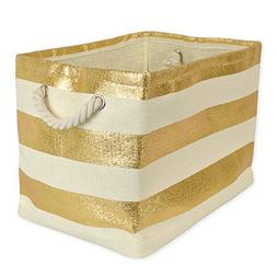 DII Woven Paper Storage Basket or Bin, Collapsible & Conveni