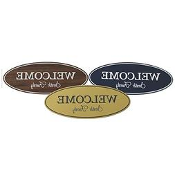 Stylish Oval Personalized Welcome Door / Wall Sign for Home,