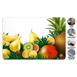 JAAX Summer Tropical Fruits Front Door Mat Welcome Doormat f