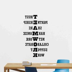Teamwork Wall Decal Office Vinyl Sticker Work Quote Gift Pos