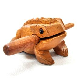 Thailand Craft Wooden Lucky Frog Croaking Musical Instrument