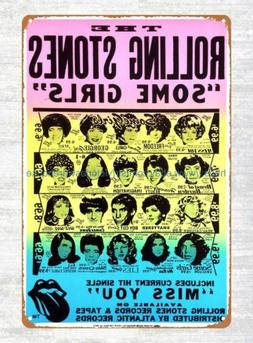 The Rolling Stones Some Girls Promotional Poster 1978 tin si