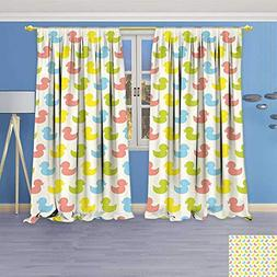 Philiphome Thermal Insulated Window Curtains Colorful Duckli
