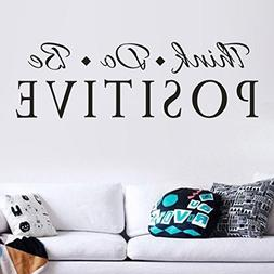 Think Positive Word Sign Wall Sticker,Huphoon Removable Art