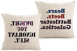 Foozoup Throw Pillow Case The Office Dwight, You Ignorant S.