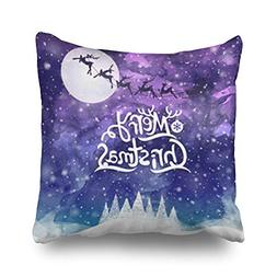 Throw Pillow Covers Christmas Greeting Merry Lettering Holid