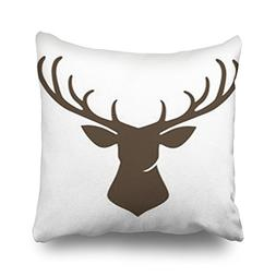 Throw Pillow Covers Deer Animals Wildlife Head Signs Symbols