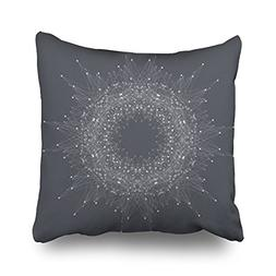 LOLYeah Throw Pillow Covers Fractal Element Compounds Lines