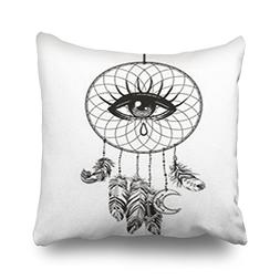 Throw Pillow Covers Hand Drawn Native American Indian Talism