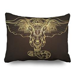 Throw Pillow Covers Beautiful Handdrawn Tribal Style Elephan