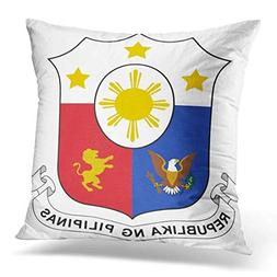 Throw Pillow Covers White Cutout Philippines of Arm Emblem S