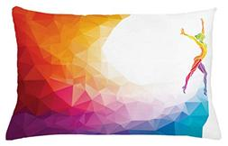 Ambesonne Sports Throw Pillow Cushion Cover, Gymnastics Girl