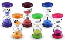 Goodii time timer, 6 Colors Sand Timers for kids, Hourglass
