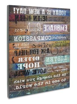 Today Is A New Day Wall Art Print 12x16 Inspiring Home Offic