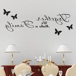 Together We Make a Family Word Sign Wall Sticker,Huphoon Rem