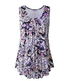 ABYOXI Womens Tops, Girls Floral Tunic Tops Summer Round Nec