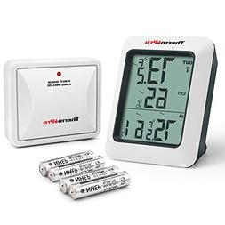 ThermoPro TP-60S Digital Hygrometer Indoor Outdoor Thermomet