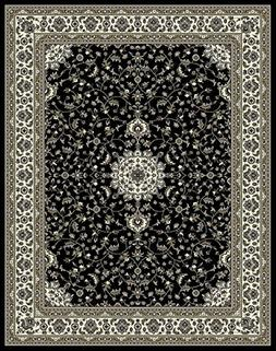 Traditional Oriental Medallion Area Rugs Black 4x6 Rugs for