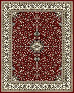 Traditional Area Rugs Red 4x6 Rugs for Entryway Living Room