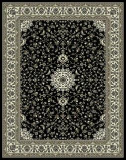 Traditional Area Rugs Black 4x6 for Entryway Living Room Foy