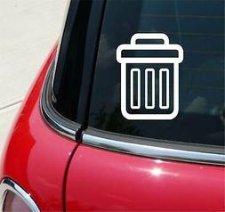TRASH CAN OFFICE RECYCLE FUNNY GRAPHIC DECAL STICKER ART CAR