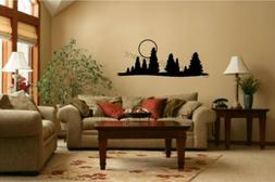 Trees Moon Vinyl Decal Wall Stickers Office Living Room Deco