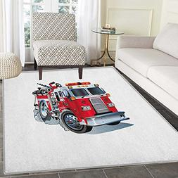 Truck Area Rug Carpet Fire Brigade Vehicle Emergency Aid For