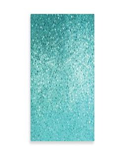 Ambesonne Turquoise Wall Art, Small Dot Mosaic Tiles Shape S
