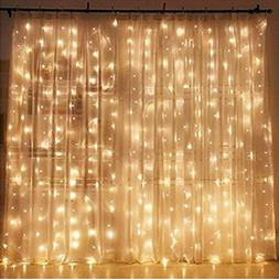 Twinkle Star Window Curtain 300 LED String Light For Home Ga