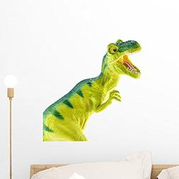 Wallmonkeys Tyrannosaurus Rex Plastic Toy Wall Decal Peel an