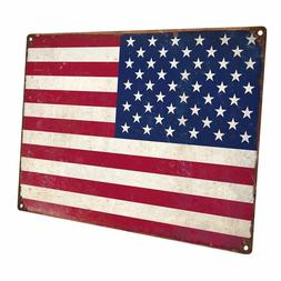 United State Flag Metal Sign; Wall Decor for Home and Office