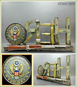 UNITED STATES MILITARY ARMY 3D HERO PLAQUE SIGN SCULPTURE Ho
