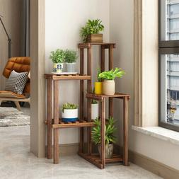 US Anti-insect 6 Tier Wood Plant Stand Corner Flower Pot She