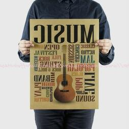 US SELLER- office decor accent music guita wall poster
