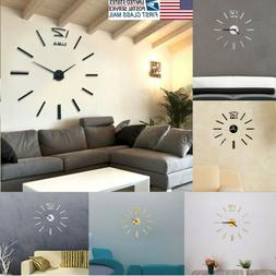 us wall clock sticker modern large 3d
