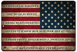Rogue River Tactical USA American Flag Metal Tin Sign Wall D