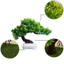 USA Artificial Bonsai Potted Plant Pine Tree Guest Greeting