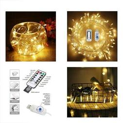 USB LED String Lights 72ft 200 LEDs With 8 Modes Fairy Twink