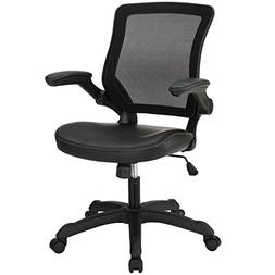 Modway Veer Office Chair with Mesh Back and Black Mesh Seat