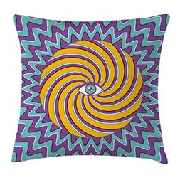 Ambesonne Vintage Decor Throw Pillow Cushion Cover, Third Ey