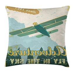 Ambesonne Vintage Decor Throw Pillow Cushion Cover, Old Scho