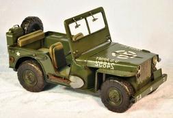 Vintage Production by Jayland US Army Military Jeep Home Off