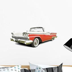 Wallmonkeys Vintage Red Caddy Wall Decal Peel and Stick Grap