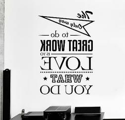 Vinyl Wall Decal Office Quote Art Motivation Decor Stickers