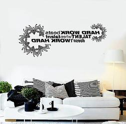 Vinyl Wall Decal Office Quote Hard Work Motivation Decoratio